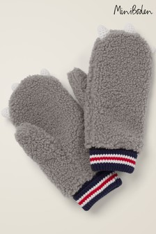Boden Grey Novelty Mittens
