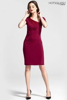 HotSquash Asymmetric Neckline Day To Night Dress