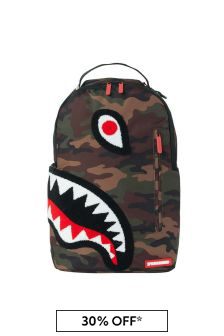 Sprayground Kids Torpedo Shark Camo Backpack