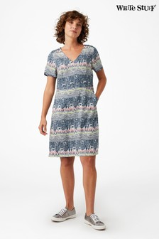White Stuff Blue Gwelanmor Dress