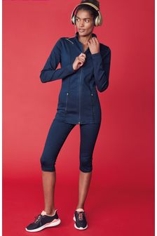 Active Denim Zip Through Jacket