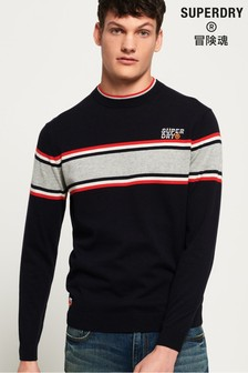 Superdry Parallel Stripe Crew Jumper