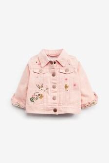 Denim Embroidered Jacket (3mths-7yrs)