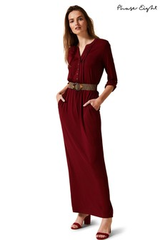 Phase Eight Red Breony Shirt Maxi Dress