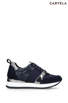 Carvela Navy Justified Trainers