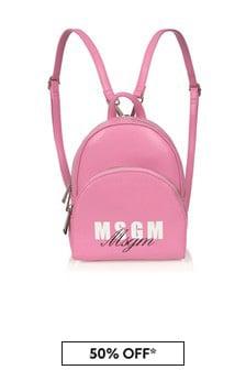 MSGM Girls Pink Backpack