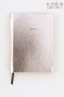 Caroline Gardner Rose Gold Metallic Hardback Notebook