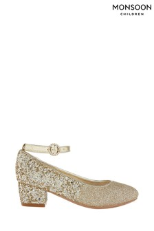 Monsoon Autumn Gold Ombre Glitter Shoes