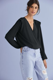 Shoulder Pad Wrap Top