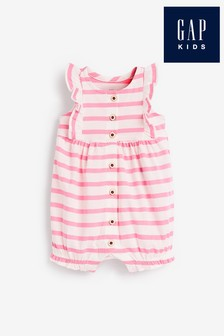 Gap Baby Stripe Buttoned Romper