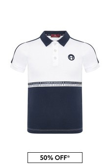 Aigner Boys Navy Cotton Polo Shirt