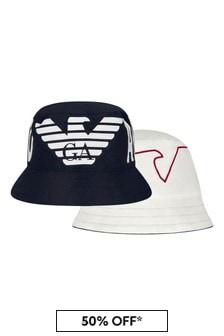 Emporio Armani Boys Reversible Navy Hat