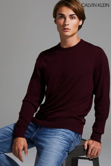 Calvin Klein Red Superior Wool Sweater