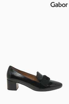 Gabor Derry Black Suede Dress Court Shoes