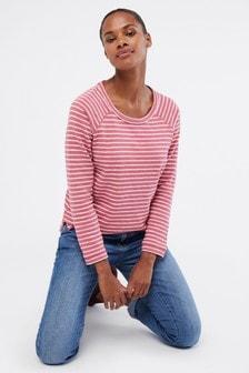 White Stuff Pink Sally Stripe Jersey Top
