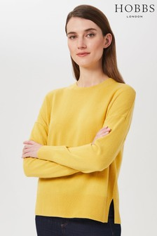 Hobbs Yellow Lydia Wool Sweater