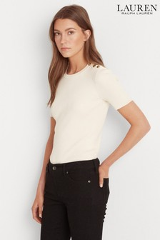 Lauren Ralph Lauren® Cream Madara Short Sleeve Jumper