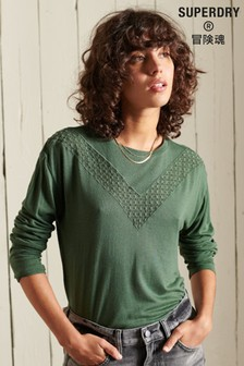 Superdry Rock Lace Long Sleeve Jersey Top