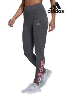 adidas Charcoal Linear Logo Leggings