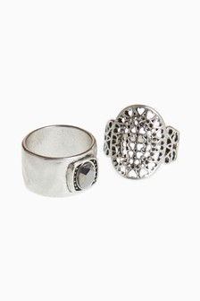 Burnished Chunky Ring Pack