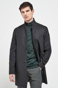 Inverted Lapel Coat