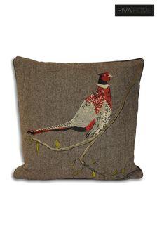 Pheasant Wool Blend Cushion by Riva Home