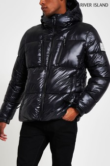 River Island Black Core Puffer Jacket