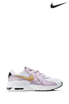 Nike White/Pink Excee Junior Trainers