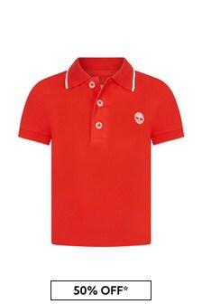 Timberland Baby Orange Cotton Polo Shirt