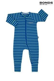 Bonds Blue Ribbed Zip Wondersuit