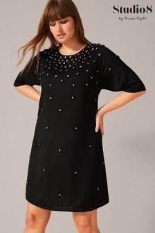 Studio 8 Black Cindy Embellished Dress