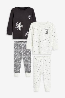 2 Pack Floral Bird Snuggle Pyjamas (9mths-8yrs)