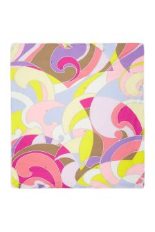 Emilio Pucci Baby Girls Purple Cotton Blanket