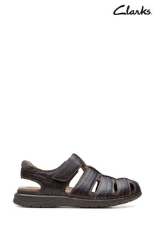 Clarks Mahogany Leather Nature Limit Sandals