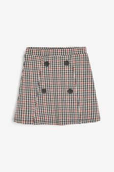Check Ponte Skirt (3-16yrs)