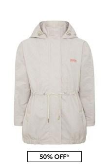 Boss Kidswear Boss Girls Beige Cotton Jacket