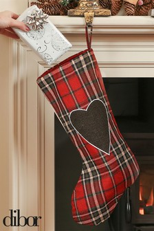 Highland Tartan Heart Stocking by Dibor