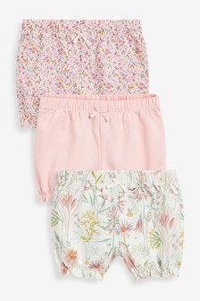 3 Pack Floral Shorts (0mths-3yrs)