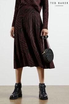 Ted Baker Viviynn Knitted Pleated Zebra Skirt