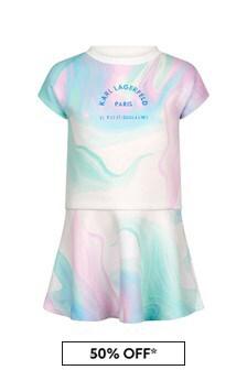 Karl Lagerfeld Girls White Dress