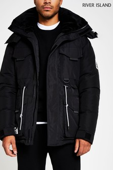 River Island Black Hiker Jacket