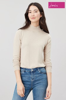 Joules Cream Orianna Basic Roll Neck Jumper