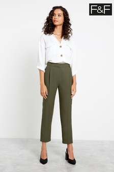F&F Khaki Utility Pocket Trousers