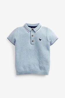 Knitted Textured Polo Shirt (3mths-7yrs)