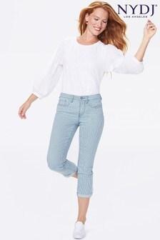 NYDJ Chloe Skinny Capri Jeans - Trella (Stripe)