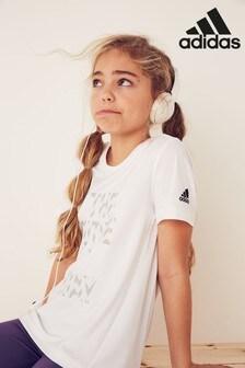 adidas White XFG Training T-Shirt