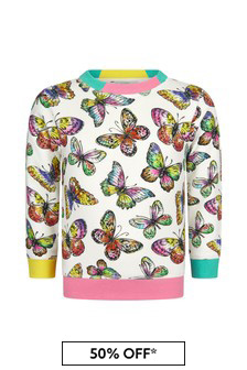Stella McCartney Kids Girls Multicoloured Cotton Sweater