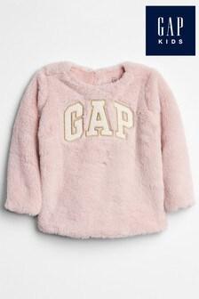 Gap Langärmeliges Sweat-Top, Pink