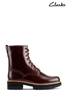 Clarks Merlot Leather Orianna Hi Boots
