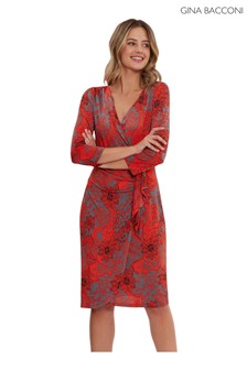 Gina Bacconi Rella Floral Jersey Dress